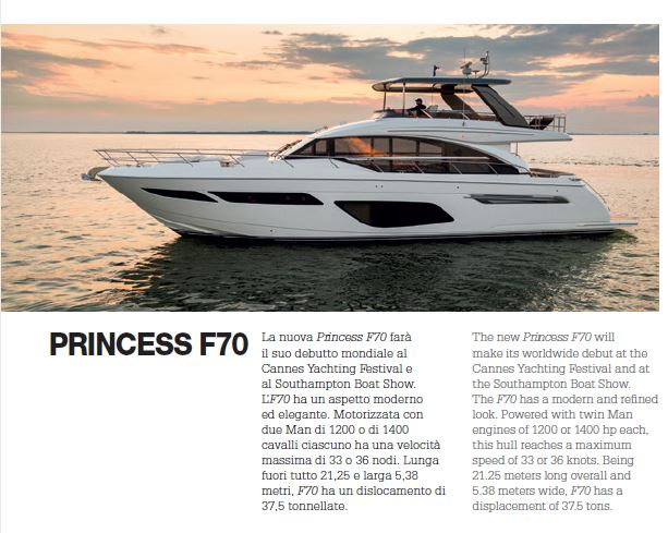 New Princess 70: ha fatto il suo debutto al Cannes Yachting Festival